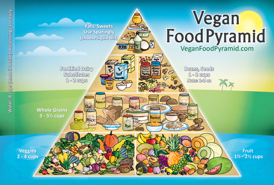 Vegan Food Pyramid New
