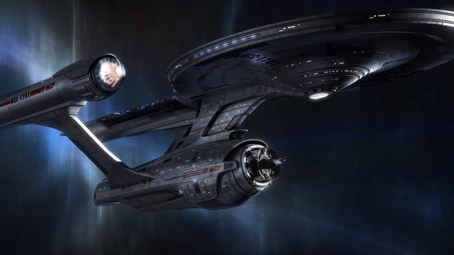 classic enterprise star trek outer space spaceships 1920x1080 wallpaper